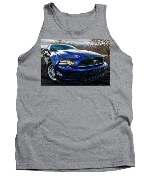 Tank Top featuring the photograph 2014 Ford Mustang by Randy Scherkenbach
