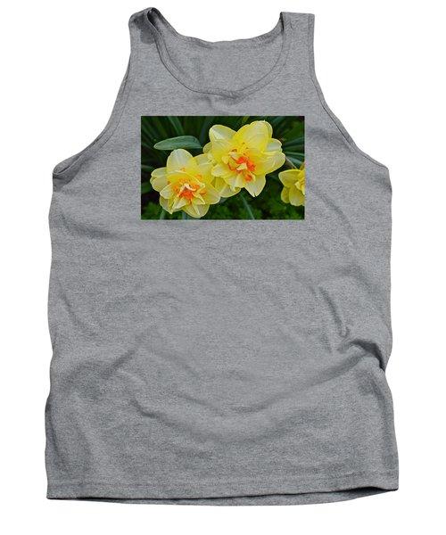2015 Spring At The Gardens Tango Daffodil Tank Top