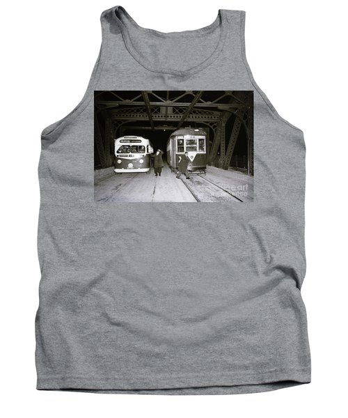 Tank Top featuring the photograph 207th Street Crosstown Trolley by Cole Thompson
