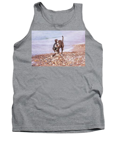 Tank Top featuring the photograph American Pitbull Terrier by Peter Lakomy