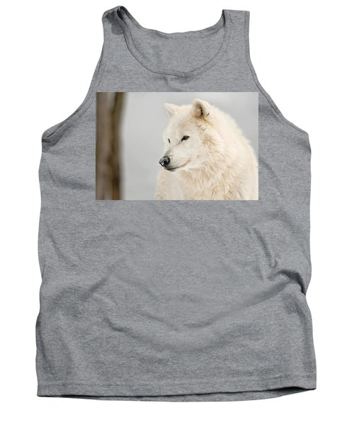 Arctic Wolf Portrait Tank Top by Michael Cummings