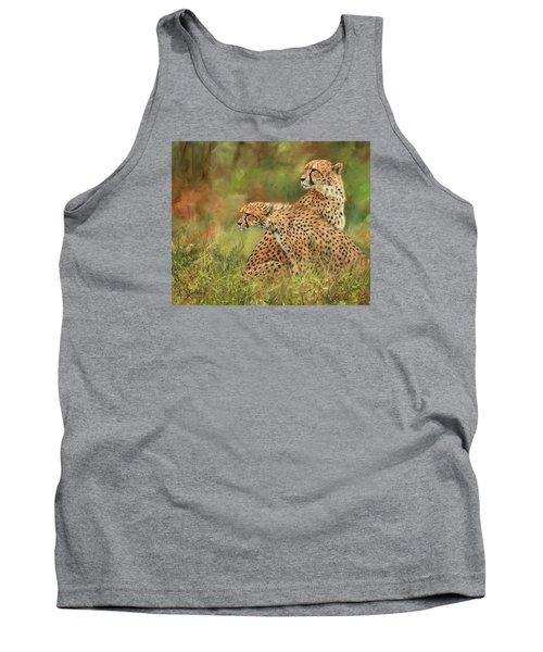 Cheetahs Tank Top by David Stribbling