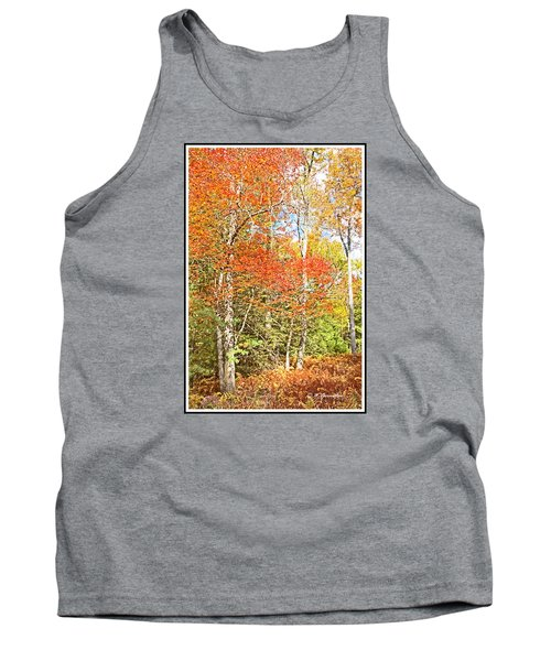 Tank Top featuring the digital art Forest Interior Autumn Pocono Mountains Pennsylvania by A Gurmankin