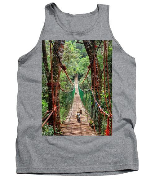 Tank Top featuring the photograph Hanging Bridge by Alexey Stiop