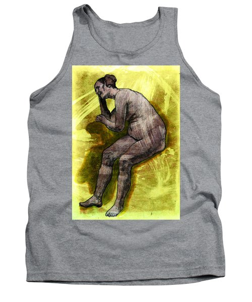 Nude Woman Tank Top by Svelby Art