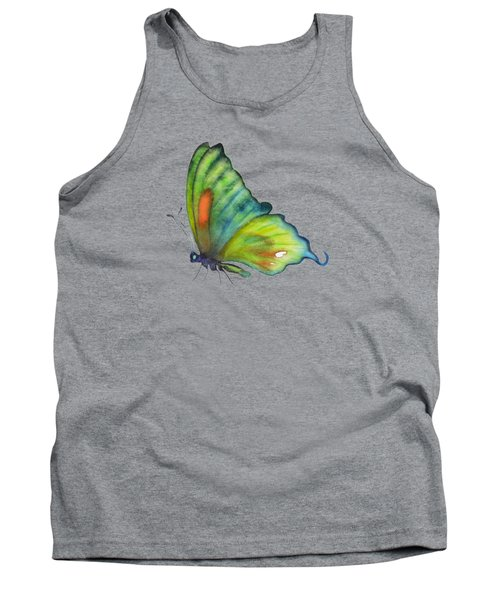 3 Perched Orange Spot Butterfly Tank Top by Amy Kirkpatrick