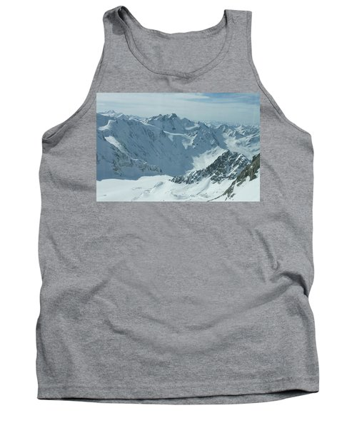 Tank Top featuring the photograph Pitztal Glacier by Christian Zesewitz
