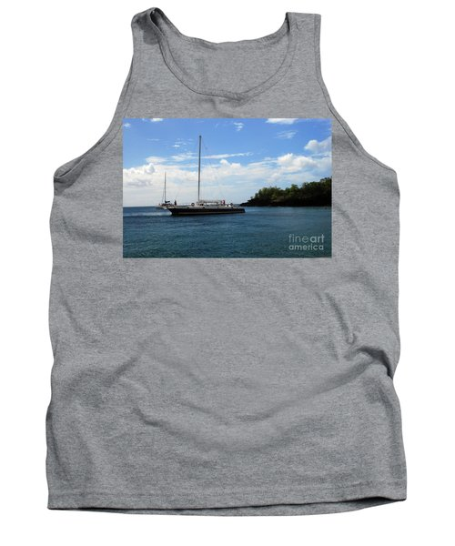 Tank Top featuring the photograph Sail Boat by Gary Wonning