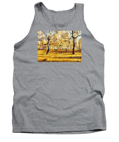 Watercolor Landscape Autumn Painting Forest Tank Top