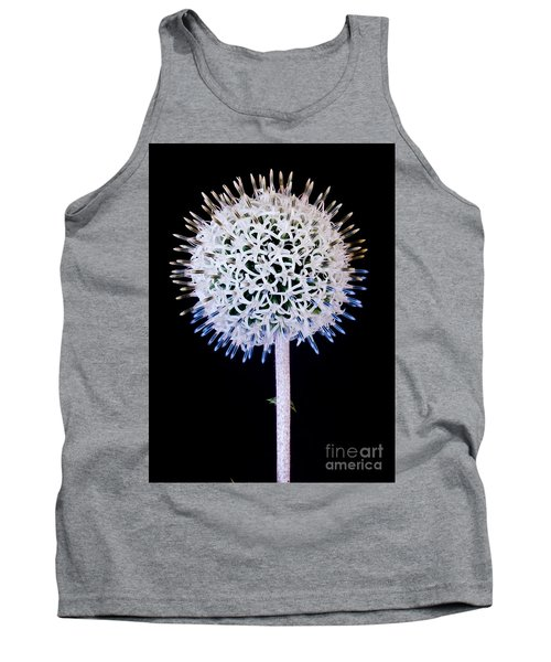 White Alium Onion Flower Tank Top by Colin Rayner