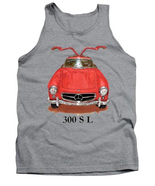 300 Sl Mercedes Benz 1955 Tank Top by Jack Pumphrey