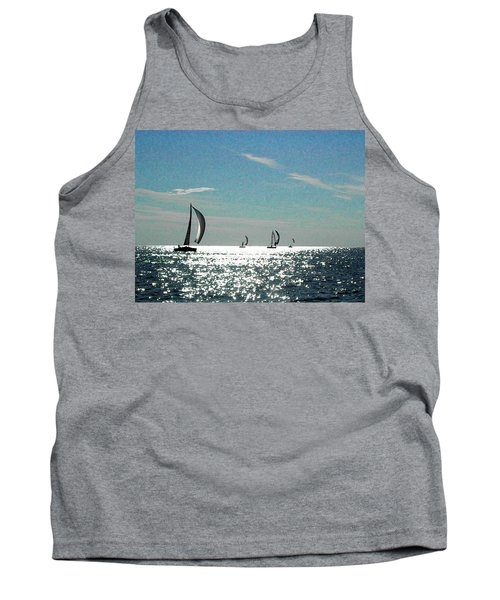 4 Boats On The Horizon Tank Top