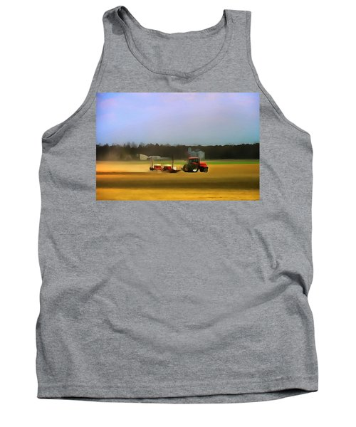 Red Tractor On The Farm Tank Top