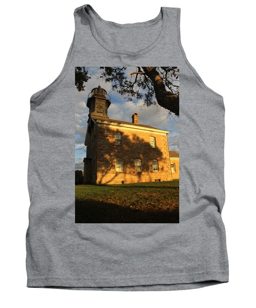 Lighthouse Old Field Point New York Tank Top by Bob Savage