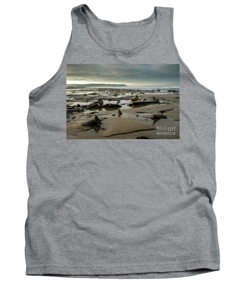 Bronze Age Sunken Forest At Borth On The West Wales Coast Uk Tank Top