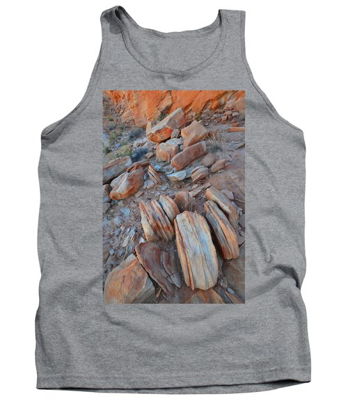 Tank Top featuring the photograph Colorful Cove In Valley Of Fire by Ray Mathis