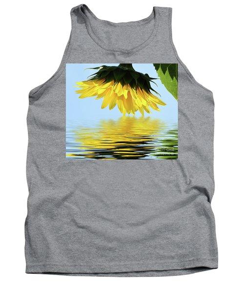 Nice Sunflower Tank Top by Elvira Ladocki
