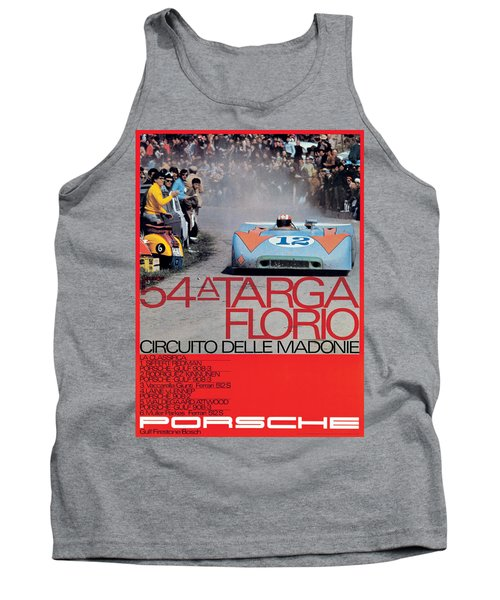 54th Targa Florio Porsche Race Poster Tank Top