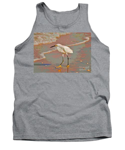 Tank Top featuring the photograph 6- Snowy Egret by Joseph Keane