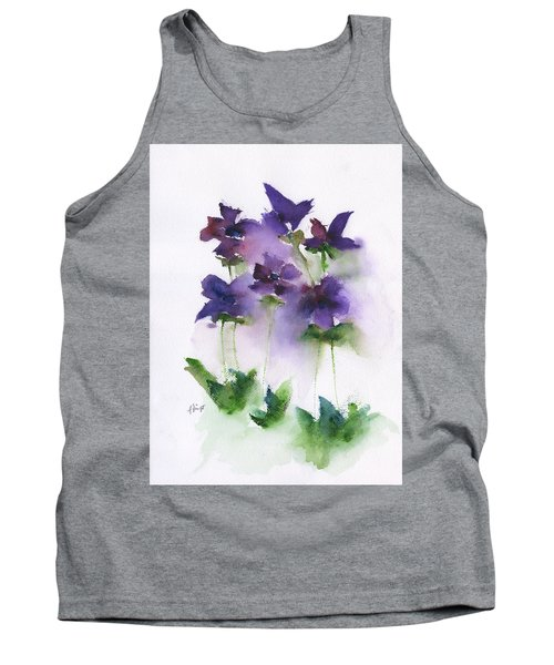 6 Violets Abstract Tank Top