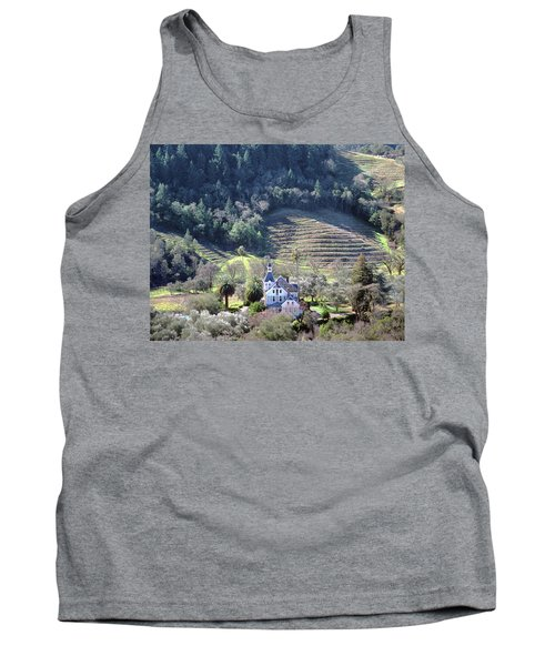 6b6312 Falcon Crest Winery Grounds Tank Top