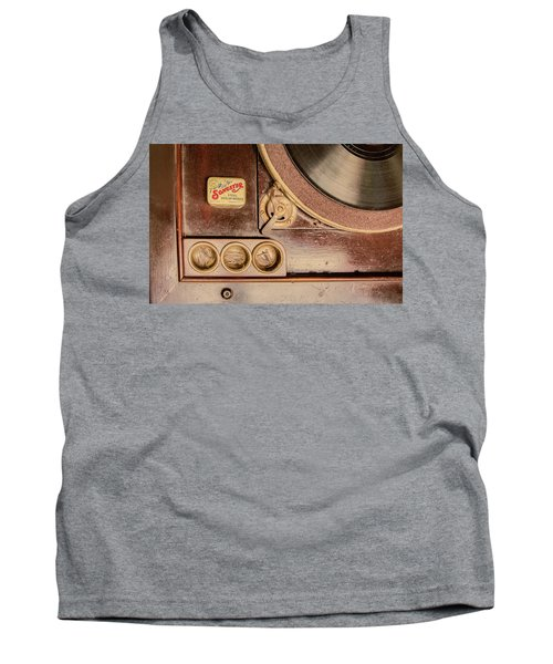 Tank Top featuring the photograph 78 Rpm And Accessories by Gary Slawsky