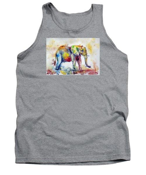 Big Colorful Elephant Tank Top