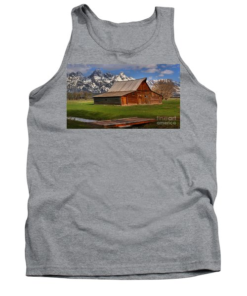A Barn In The Tetons Tank Top by Adam Jewell
