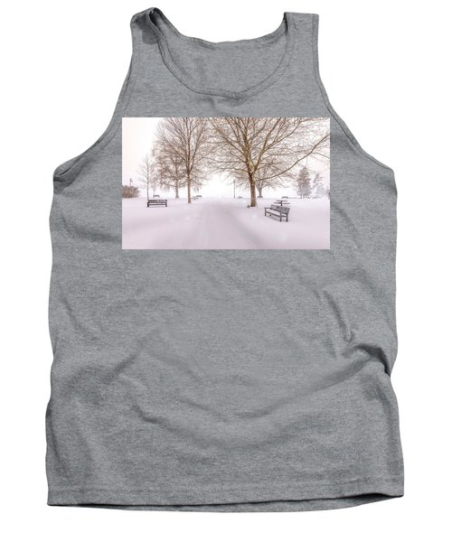 Tank Top featuring the photograph A Beautiful Winter's Morning  by John Poon