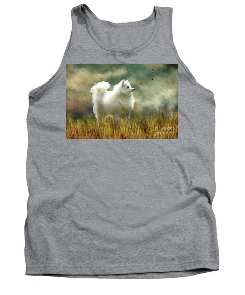 Tank Top featuring the digital art A Brief Encounter by Lois Bryan