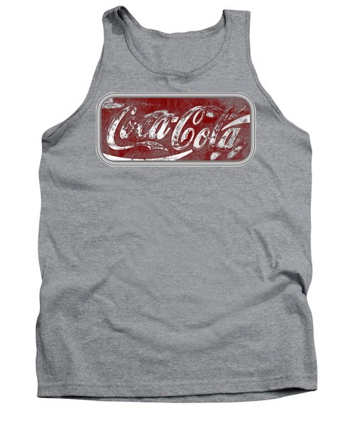 Coca Cola Red And Grey White Letters Sign With Transparent Background Tank Top