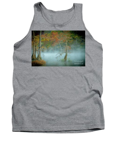 Tank Top featuring the photograph A Dancing Cypress by Iris Greenwell