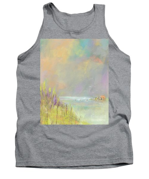 A Day At The Beach Tank Top by Frances Marino