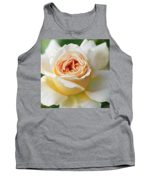 A Delicate Rose In Peach Tank Top