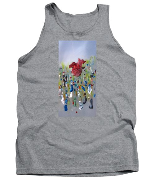 A Face In The Crowd Tank Top by Mary Kay Holladay
