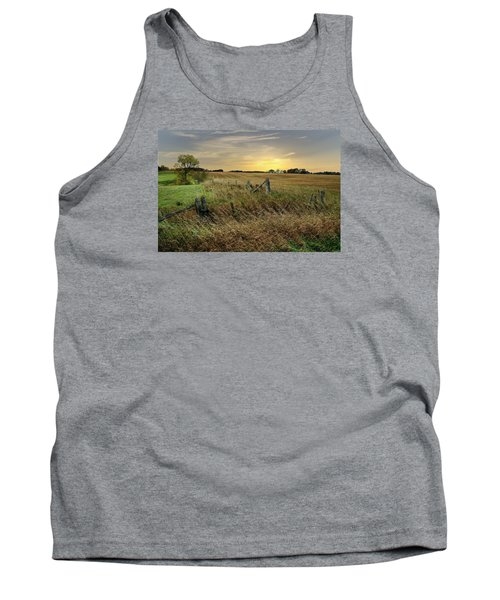 Tank Top featuring the photograph A Field Of Gold by Judy  Johnson