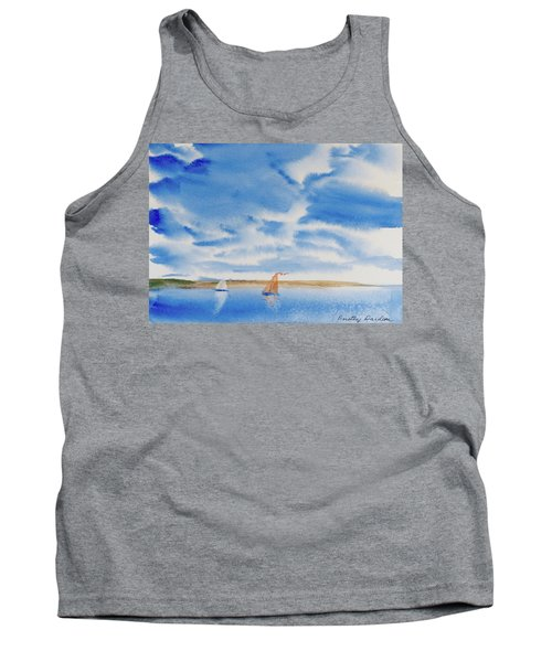 Tank Top featuring the painting A Fine Sailing Breeze On The River Derwent by Dorothy Darden