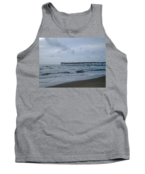 A Fishing Pier At Dawn Tank Top