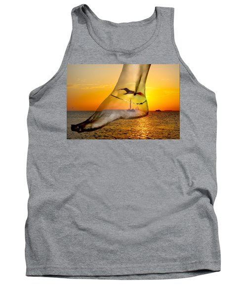 A Foot In The Sunset Tank Top