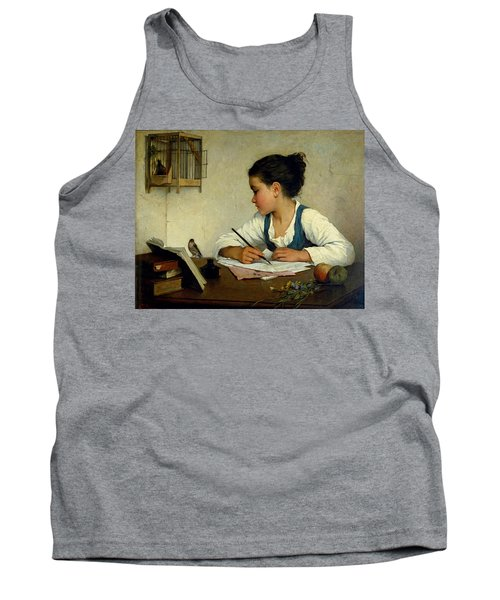 A Girl Writing. The Pet Goldfinch Tank Top