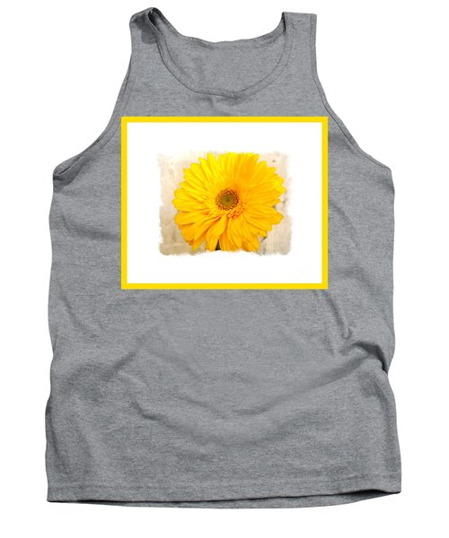 A Grand Yellow Gerber Tank Top by Marsha Heiken