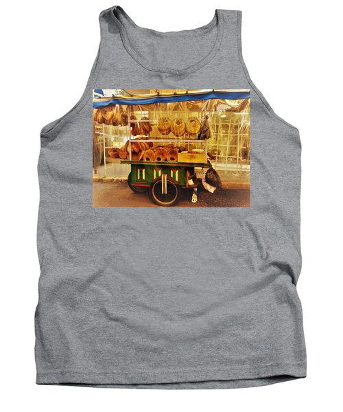 A Kaake Street Vendor In Beirut Tank Top