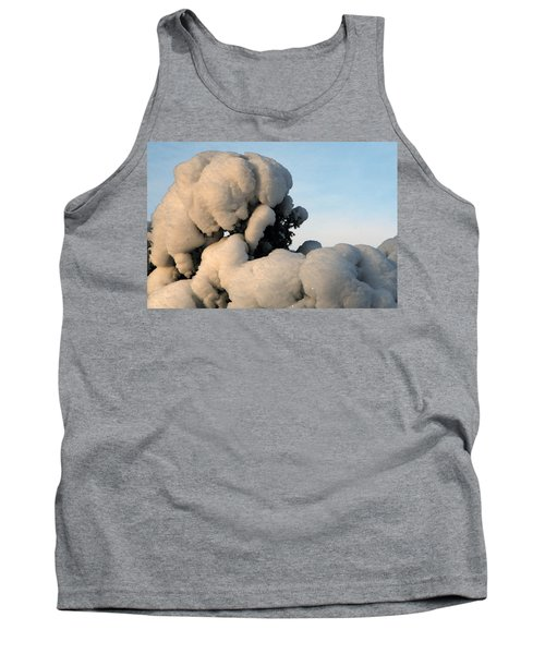 Tank Top featuring the photograph A Lick Of Snow On The Bush by Paul SEQUENCE Ferguson             sequence dot net