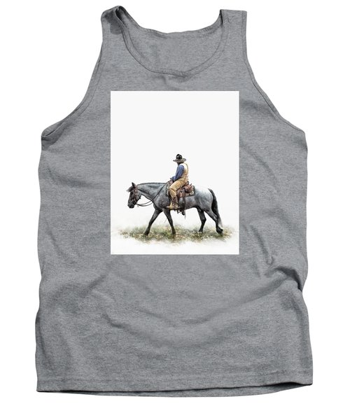 A Long Day On The Trail Tank Top by David and Carol Kelly