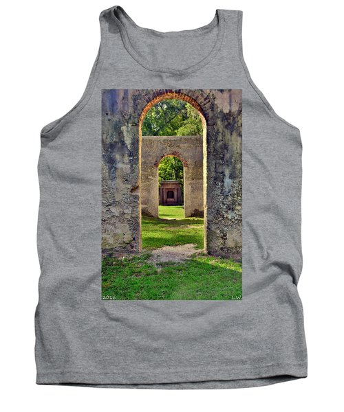 A Look Through Chapel Of Ease St. Helena Island Beaufort Sc Tank Top