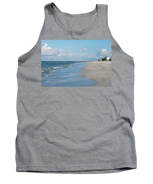 A Morning Walk On Fort Myers Beach Fort Myers Florida Tank Top
