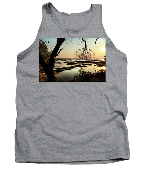 A River Sunset In Botswana Tank Top