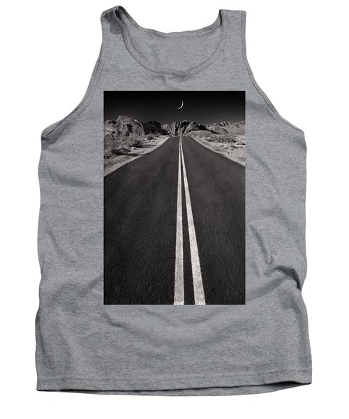 A Road With A Moon  Tank Top