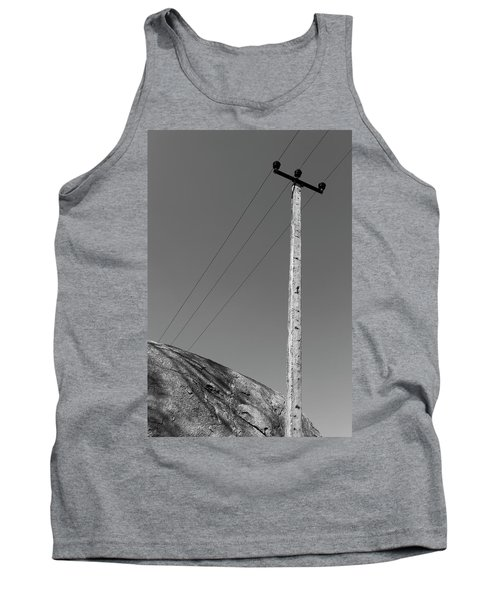 Tank Top featuring the photograph A Rock And A Pole, Hampi, 2017 by Hitendra SINKAR