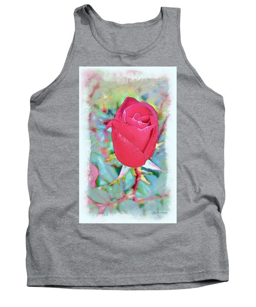 Tank Top featuring the photograph A Single Rose In October by Joan  Minchak